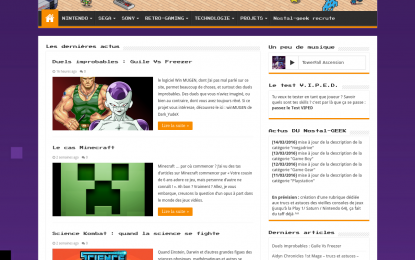 Nostal Geek : le blog du retro gaming
